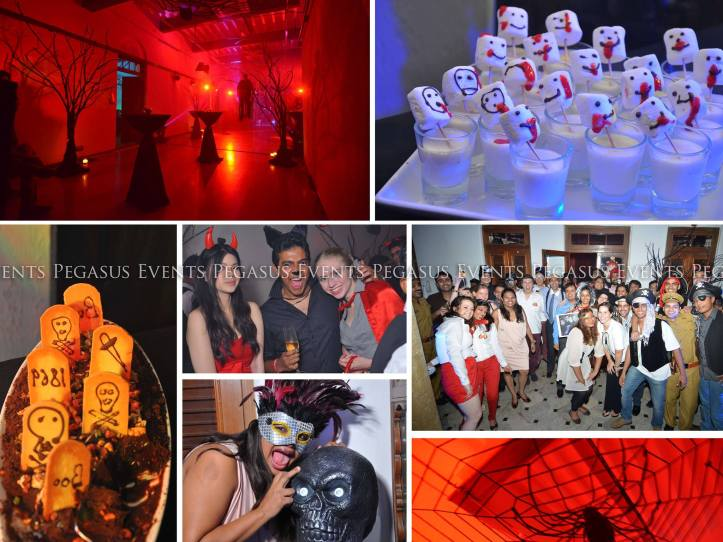 The costumes, venue decor, props and food at this event were in perfect sync with the Halloween theme at this event.